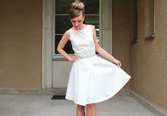 Brautkleider - Brautkleid Bella creme - ein Designerstück von Cordelia-Baethge bei DaWanda