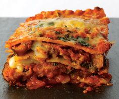 Eggplant Parmesan Lasagna Vegetarian Recipe plus 4 other recipes! From women's health magazine. #vegetarian