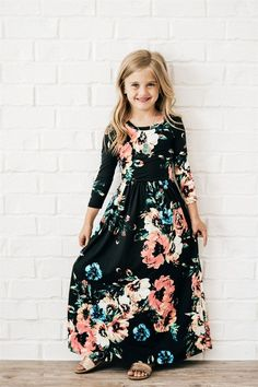 ​This Kids Floral Maxi Dress is so adorable, your child will want one in every color! They are so comfortable and made from the softest fabric! Source by veryjane Dresses Girls Maxi Dresses, Little Girl Dresses, Dresses For Kids, Infant Dresses, Baby Dresses, Little Girl Fashion, Girls Fashion Kids, Floral Maxi Dress, Kind Mode