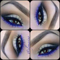 Grey and purple eyeshadow #vibrant #smokey #bold #eye #makeup #eyes