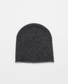ZARA 100% Cashmere Hat in Dark Grey, £35.99