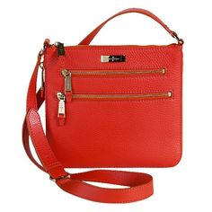 Crossbody utility, fantastically happy orange.  I will own this bag....as soon as it goes on sale.  :P
