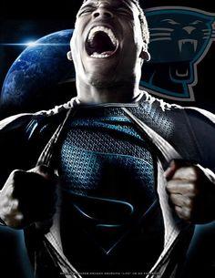 Cam Newton Superman Beast #Panthers