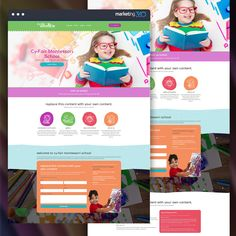 Design of the Day: Montessori school website design concept by our talented designer Grace Stamps. School Website Templates, Logo Concept, Montessori, Cool Designs, Stamps, Branding, Marketing, Photo And Video, Instagram