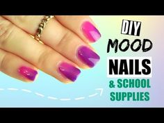 DIY Color Changing Nails, Notebooks, and Pens ☾✩ REALLY works!!!