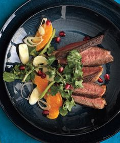 Steak With Arugula and Orange Salad recipe from realsimple.com #myplate #protein