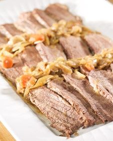 This wonderful brisket recipe is courtesy of Arthur Schwartz and can be found in his book, Jewish Home Cooking. holiday-food