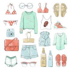 SUMMER ESSENTIALS #fashion #illustration @octomagazine