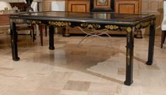 19th Century French Chinoiserie Dining Table | From a unique collection of antique and modern dining room sets at http://www.1stdibs.com/furniture/tables/dining-room-sets/