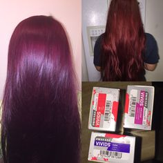 Pravana wild orchid. Pravana red. Pravana purple. Custom hair color by me