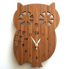 DECOYLAB(デコイラボ)掛け時計 フクロウ