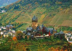 reichsburg castle in cochem, germany