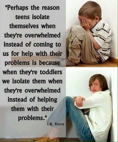 Interesting thought on why teens isolate themselves. What are your thoughts on this?