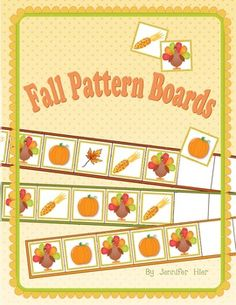 pattern boards for Thanksgiving or Fall activity