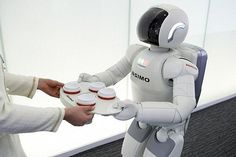 they are going to invent robots waiters because people do not have the characteristics that a robot has