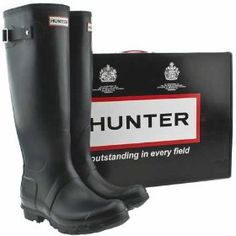 Hunter Wellies. I'd like a pair, they have to be awesome if they where used in the British army in both world wars. Yeah that kind of stuff speaks to me, I'm getting the idea these are some good quality boots.