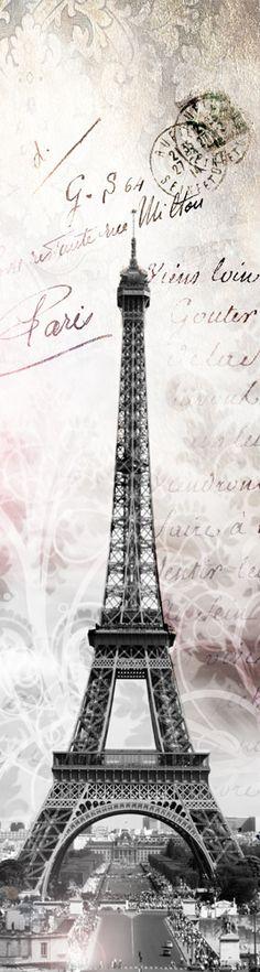 44.90€ Papier peint intissé ou sticker : Paris Tour Eiffel