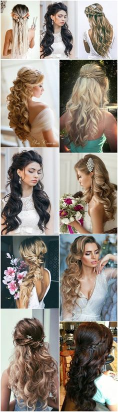 18 Creative and Unique Wedding Hairstyles for Long Hair – Hair Styles Wedding Hairstyles For Long Hair, Trendy Hairstyles, Braided Hairstyles, Creative Hairstyles, Long Haircuts, Layered Haircuts, Quince Hairstyles, Woman Hairstyles, Bridesmaid Hairstyles