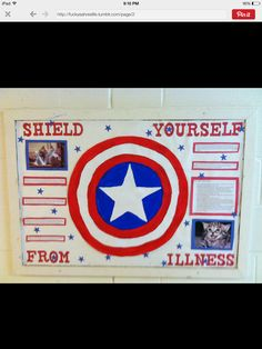 Captain America Bulletin Board Shield yourself from illness