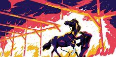 Chapter 16 Graphic Design Illustration, Illustration Art, Chapter 16, Thoroughbred Horse, My Works, Poster, Black Beauty, Behance, Dark Beauty