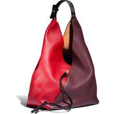 Loewe Red Multi Sling Shoulder Bag ($2,850) ❤ liked on Polyvore featuring bags, handbags, shoulder bags, sling handbags, loewe handbags, shoulder sling bag, red shoulder bag and sling purse