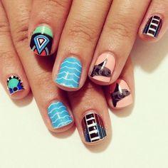 Ideias de unhas decoradas do Instagram - Stephstonenails