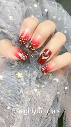 10 Most Popular Step By Step Nail Art Tutorials Funky Nail Art, Red Nail Art, Funky Nails, Cute Nail Art, Red Nails, Cute Nails, Pretty Nails, Fall Nails, Crazy Nails