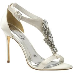 Ted Baker Tie the Knot Naiss Jewelled High Heel Sandals  Cream 235