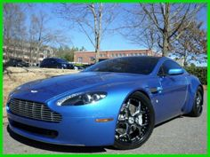 Blown Away with this #supercar! Cool Blue Aston Martin Vantage. This could be yours today... #spon