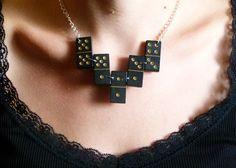 """Statement Ketten - Statement Kette """"Domino #1"""" - ein Designerstück von LuisaHerminePiazza bei DaWanda"""