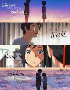 Kimi no na wa quotes Your Name Movie, Your Name Anime, All Anime, Anime Love, Kimi No Na Wa Wallpaper, K Wallpaper, Your Name Wallpaper, Otaku Anime, Anime Manga