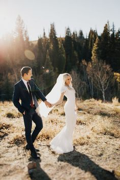 Fun and gorgeous, not-posed wedding photo of the bride and groom. So pretty. Wedding photography | bride and groom | candid wedding | outdoor wedding | bridal gown. #Film #Photography #Inspiration