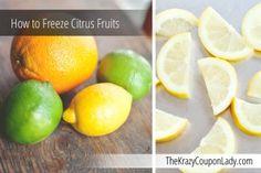 How to Freeze Citrus Fruits