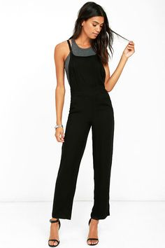 d280e6317b3 The Olive   Oak Joss Black Overalls is the one piece you need to rule the