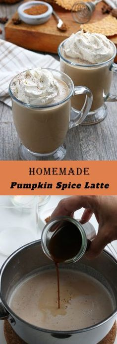 Homemade Pumpkin Spice Latte recipe is a coffee drink made with a mix of traditional autumn spice flavors. The combination of coffee with cinnamon is an excellent cool-weather drink!