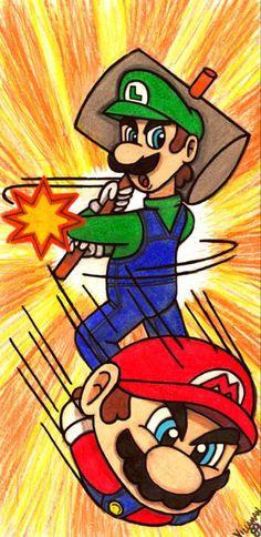 Super Mario Brothers, Super Mario Bros, Mario And Luigi, Bowser, The Help, Nintendo, Animation, Fan Art, Deviantart
