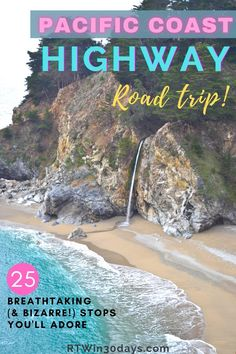 It's one of the world's most scenic drives and a Bucket List must! California's Pacific Coast Highway is the ultimate American road trip. Hit the open road from San Francisco to LA for this 5-day itinerary. Highlights include Monterrey, Big Sur, Pebble Beach, Santa Barbara, and Malibu. It's 5 days of jaw-dropping vistas, seaside villages, unique shops, mom Highway Road, Pacific Coast Highway, Usa Roadtrip, Travel Usa, Beach Travel, Best Solo Travel Destinations, California Destinations, Best Romantic Getaways, Romantic Travel