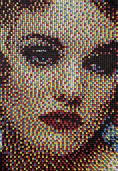 push pin portraits by artist Eric Daigh.