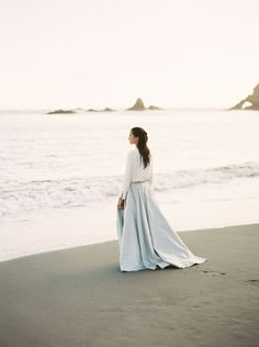 Modern two-piece wedding dress // serenity blue