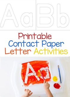 Are your kids learning at home? This printable contact paper alphabet letter activity is perfect for toddlers and preschool aged kids who are learning about their letters. Add this to your homeschool letter themed weekly crafts and activities for some painting fun!
