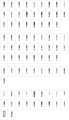 Fuentes originales para Descargar Gratis como estas con Código de Barras. Alphabet Code, Alphabet Symbols, Phonetic Alphabet, Sign Language Alphabet, Bild Tattoos, Body Art Tattoos, Tattoo Drawings, Small Tattoos, Barcode Tattoo