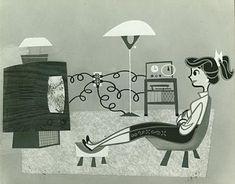 Vintage Illustration Art, Character Illustration, Graphic Illustration, Retro Illustrations, Retro Art, Vintage Art, Bunny Drawing, Retro Cartoons, Mid Century Art