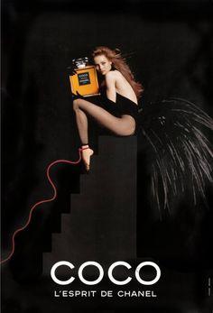 """Vanessa Paradis par Jean Paul Goude pour """"Coco"""" l'esprit de Chanel en 1991. #chanel #perfume"""