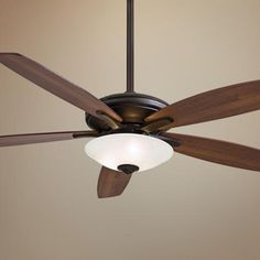 "52"" Minka Aire Mojo Frosted White Glass - Bronze Ceiling Fan -"