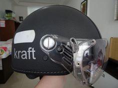 Capacete Kraft 56cm - Revestido Em Couro Kcustom Plus Preto