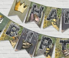 Where The Wild Things Are Birthday Banner by BabyCollarPrintables