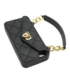 Protect an iPhone 4 or 4S and keep valuables in order with this handy case. Credit cards and cash stay safe and secure thanks to a turn-key closure, and the simple design is sure to complement any outfit.