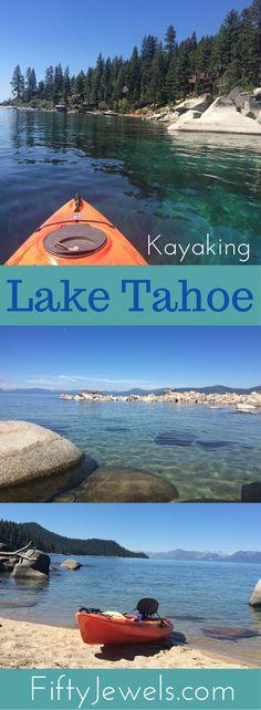 Lake Tahoe kayaking is some of the most beautiful in the world. #kayaking #laketahoe #outdoors