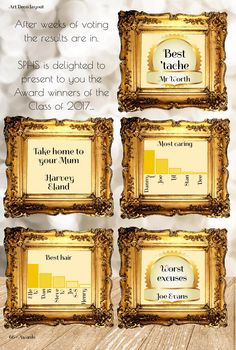 Proof that you can add a frame to just about anything! Gold frames for yearbook awards. Yearbook Pages, Gold Frames, Thinking Outside The Box, Cool Hairstyles, Awards, Art Deco, Make It Yourself, Canning, Gold Photo Frames