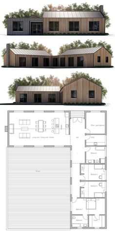 Modern farmhouse plan 888 15 by architect nicholas lee for Nicholas lee architect